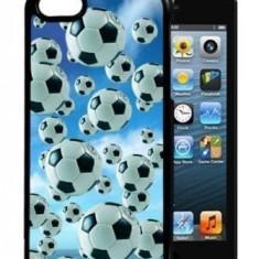 Husa iPhone 5 5S 5G SE 3D Imagine dinamica Mingi fotbal - Husa Telefon, iPhone 5/5S/SE, Gel TPU, Carcasa