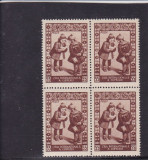 ROMANIA  1955  LP 386  ZIUA  INTERNATIONALA   A  COPILULUI  BLOC DE 4 TIMBRE MNH, Nestampilat