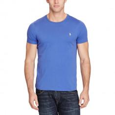 Tricou RALPH LAUREN Slim Fit - Tricouri Barbati - 100% AUTENTIC - Tricou barbati Ralph Lauren, Marime: S, Culoare: Albastru, Maneca scurta, Bumbac