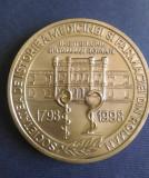 Medalia Bicentenarul Spitalului Roman 1798-1998, istoria medicinei si farmaciei