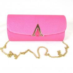 Geanta/plic dama roz cu curea lant+CADOU - Geanta Dama, Culoare: Din imagine, Marime: Medie