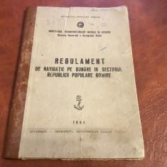 Regulament - navigatie pe Dunare in sectorul Republicii Populare Romine 1954 ! - Carti Transporturi