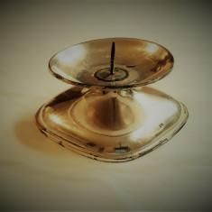 SFESNIC argint MASIV pentru LUMANARE GROASA splendid AUSTRIA 1900 de colectie