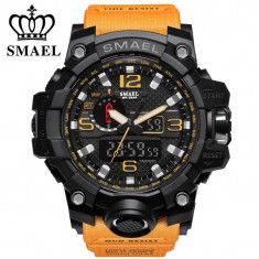 Ceas SMAEL Digital Cronometru, ecran iluminat, Shockproof WR 3 ATM - Ceas barbatesc Tommy Hilfiger, Fashion, Quartz, Inox, Analog