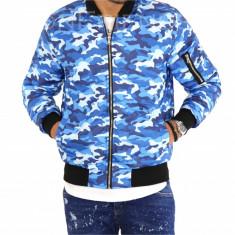 Geaca barbati albastra army - geaca slim fit COLECTIE NOUA 9456 K3, Marime: S, M, L, XL, Culoare: Din imagine