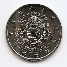 Slovenia 2 Euro 2012 - (10 Years of Euro Cash) KM-107 UNC !!!, Europa