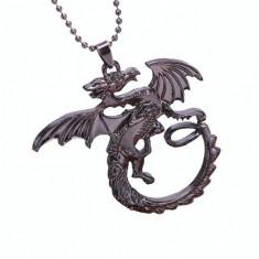 Pandantiv Medalion Lantisor Targaryen Game Of Thrones Dragon Daenerys Targaryen - Pandantiv fashion