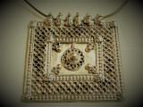 RAR Medalion argint etnic TRIBAL rar MASIV splendid OPULENT superb + Lant argint