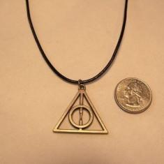 Pandantiv / Colier / Medalion lant HARRY POTTER Deathly Hallows Triangle + lant - Pandantiv inox
