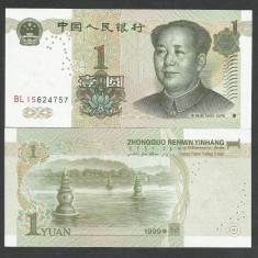CHINA 1 YUAN 1999 UNC [1] P-895a, necirculata - bancnota asia