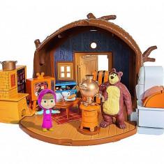 Set de joaca cu figurine Masha si Ursul, Casuta ursuletului, - Jucarie interactiva