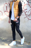 Geaca fashion mustar - geaca slim fit - COLECTIE NOUA - 9461 K3, L, M, S, XL, Din imagine