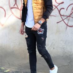 Geaca fashion mustar - geaca slim fit - COLECTIE NOUA - 9461 K3 - Geaca barbati, Marime: S, M, L, XL, Culoare: Din imagine