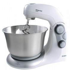 Mixer cu bol Trisa Kitchen Chef 550W alb / inox - Mixer Bucatarie