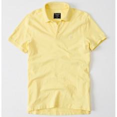 Tricou Polo ABERCROMBIE FITCH - Tricouri Barbati - 100% AUTENTIC - Tricou barbati, Marime: S, M, L, XL, XXL, Culoare: Galben, Maneca scurta, Bumbac