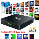 TV Box Android 6.0 2017 M9S 6.0 S905X Quad-Core 4K  Media Player
