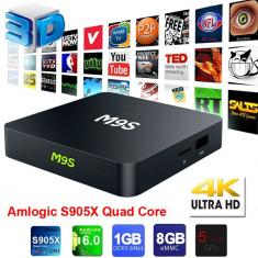 TV Box Android 6.0 2017 M9S 6.0 S905X Quad-Core 4K Media Player