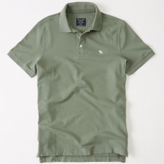 Tricou Polo ABERCROMBIE FITCH - Tricouri Barbati - 100% AUTENTIC - Tricou barbati, Marime: M, Culoare: Verde, Maneca scurta, Bumbac