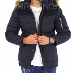 Geaca barbati iarna bleumarin - 9448 M1, Marime: L, XL, XXL, Culoare: Din imagine