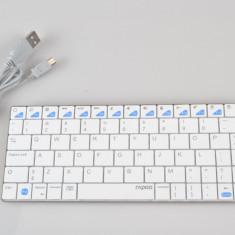 Tastatura Bluetooth Rapoo E6300 Ultra-slim alba. - Tastatura tableta