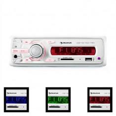 Auna MD-120.2WH radio auto USB SD MP3 4x75W max. Line-Out - CD Player MP3 auto