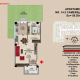 2 camere - Apartament de vanzare, 59 mp, Numar camere: 2, An constructie: 2017, Parter