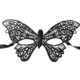 Mască din Dantelă Butterfly cu broderie neagra, Negru