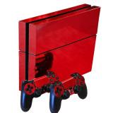 Skin / Sticker Glossy Red Playstation 4 PS4 + 2 Skin controller +BONUS, Huse si skin-uri