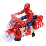 Motocicleta Spiderman cu sunete si lumini - Figurina Desene animate