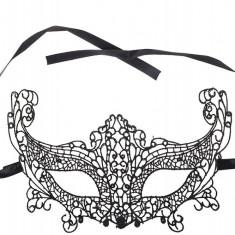 Mască din Dantelă Maia broderie neagra, Culoare: Negru