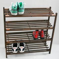 Suport din lemn cu 4 etajere pt pantofi - Pantofar - Raft Pantofi - Nou - Pantofar hol