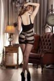 Mini Rochiţă Fuschia Sexy Marie din Plasă, Marime universala, Negru