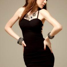 Rochie Sexy cu Dantelă Luna Neagră, Marime: Marime universala