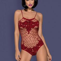 Body Obsessive Suella - Body dama, Marime: Marime universala, Culoare: Rosu