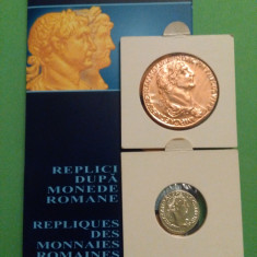 2006.09.18 - Replici după SESTERȚ și DENAR, monede emise de împăratul Traian - Moneda Romania