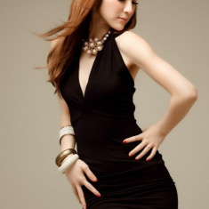Rochie Sexy Noemi Neagră - Rochie de club, Marime: Marime universala