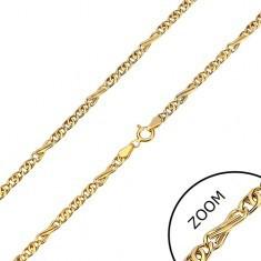 Lanț din aur 585 - zale ovale și zale în formă de opt, 450 mm - Lantisor aur