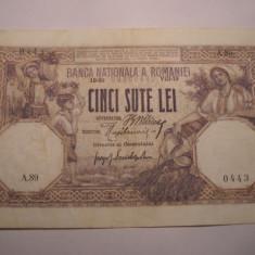 500 lei 1918 August - Bancnota romaneasca