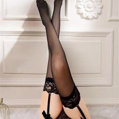 Dresuri Sexy pentru Portjartier Irine, Negre, Marime: M, Culoare: Alb, Rosu
