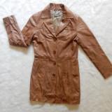 Palton piele naturala foarte moale tip manusa Vera Pelle Sandra Pabst; marime 34
