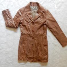Palton piele naturala foarte moale tip manusa Vera Pelle Sandra Pabst; marime 34 - Palton dama, Culoare: Din imagine