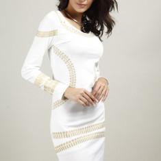 Rochie Elegantă Anuva - Rochie ocazie, Marime: S, M, L, Culoare: Alb, Negru
