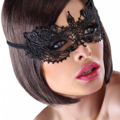 Mască din Dantelă Myra Neagra, Culoare: Negru