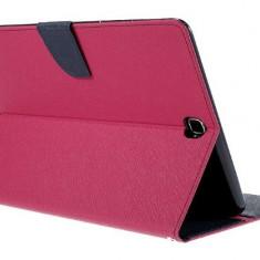 Husa tip carte Mercury Goospery Fancy Diary roz + albastru pentru Samsung Galaxy Tab A (SM-T550) / Galaxy Tab A LTE (SM-T555) 9.7