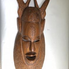 Masca veche, balineza, sculptata, din lemn, in basorelief - Arta din Africa