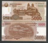 COREEA DE NORD   5000 5.000  WON 2012 2013  UNC  P-CS 18  pentru  colectionari