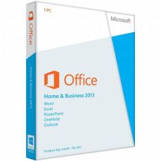 Microsoft Office Home and Business 2013 - in limba Romana sau Engleza - Aplicatie PC