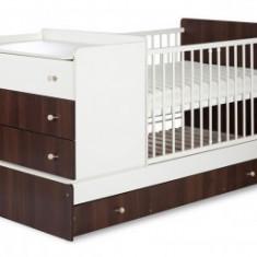 Patut copii Transformabil Klups Kompakt Nuc-Alb - Patut lemn pentru bebelusi
