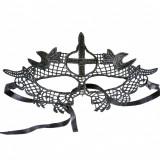 Mască din Dantelă Malak Broderie Neagra, Negru