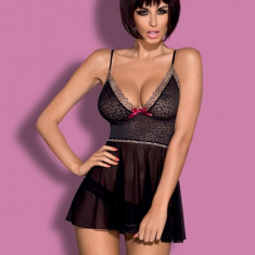 Babydoll și Chiloţi Chita Obsessive - Set lenjerie sexy, Marime: L/XL, Culoare: Negru